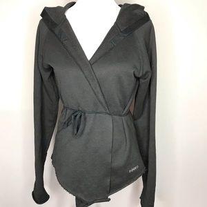 Pinko Italy Raw Hem Black Cardigan Sweatshirt
